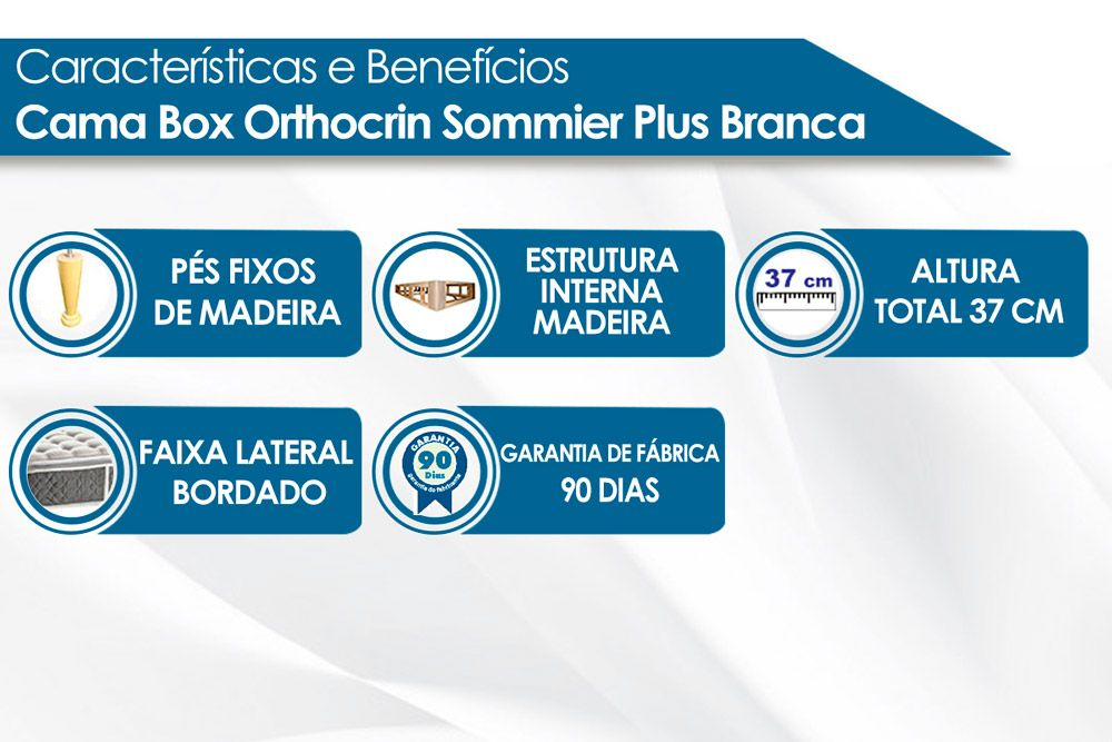 Cama Box Orthocrin Sommier Plus Branca