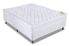 Conjunto Cama Box - Colchão Orthocrin de Espuma D45 Royal Plus  + Cama Box Universal Courino White