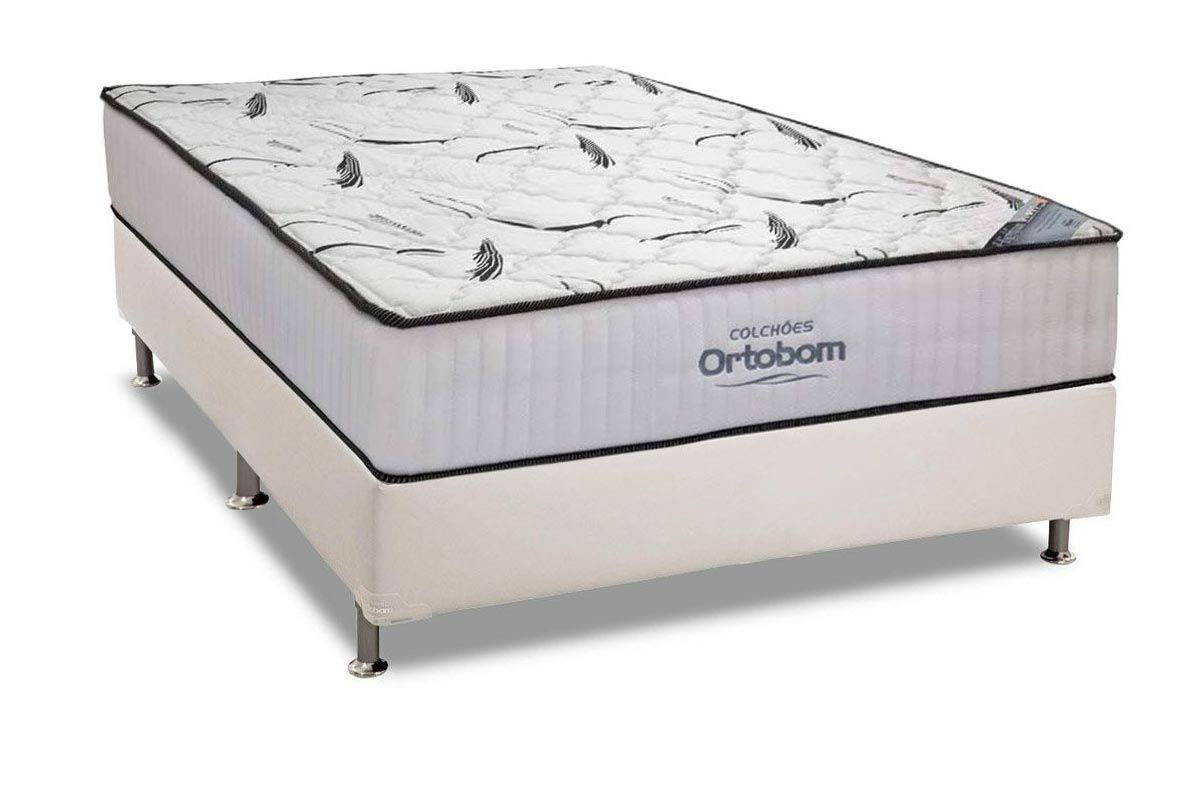 Conjunto Box: Colchão High Foam Ortobom  + Cama Courino White
