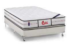 Colchão Castor Molas Pocket Gold Star  Vitagel Class D.F  + Cama Box Universal Courino White